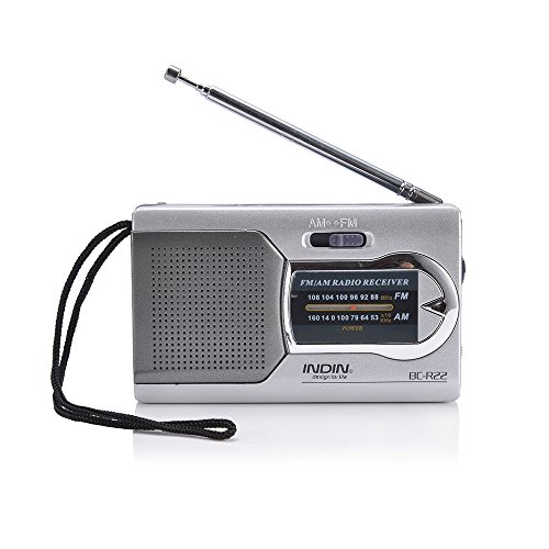 HAPITO HAPITO AM/FM Portable Radio - Mini Pocket Radio Battery Operated Radio Receiver BC-R22, Ideal Gifts for Your Family (Silver) price tips cheap