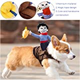 UEETEK Pet Costume Dog Costume Clothes Pet Outfit Suit Cowboy Rider Style,Fits Dogs Weight under 7 KG)- Size S