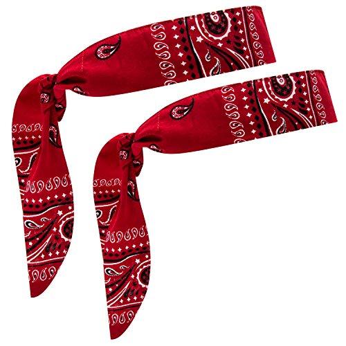 Cool Wrap Bandana (Red 2 Pack) (Red Bandana Print)