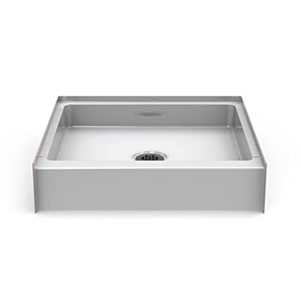 bestbath 30 x 30 step in shower base pan 6 curb height center