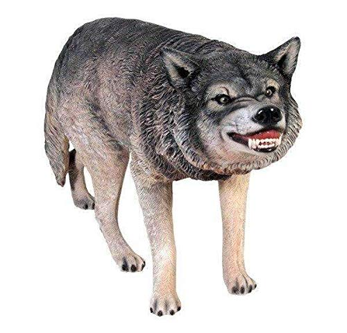 LM Treasures Dog Wild Wolf Growling Animal Prop Life Size Decor Resin Statue by LM Treasures (Image #3)