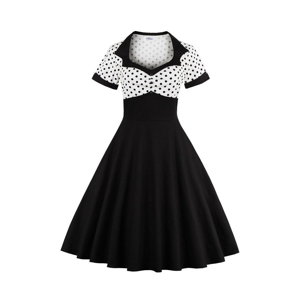 bfa03314cfd It Is A Kind Of Hepburn And Classic Style Dress With Polka Dots  Printing