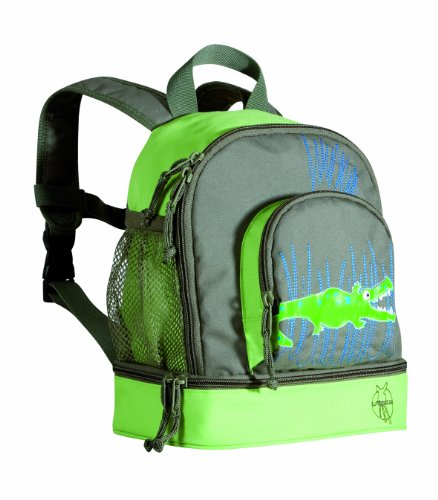 Lässig Mini Backpack Kinderrucksack Kindergartentasche, Brotdosenfach unten, Crocodile granny