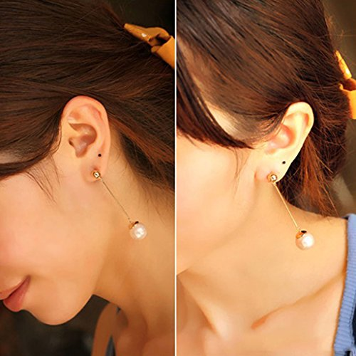Round Design Dangle Earrings Plated