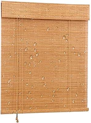 LXF Estores Enrollables Persiana Enrollable de Estilo Japonés Impermeable, Cortinas Opacas de Carbonización para Balcón, Ático, Gazebo, Pérgola, 60/80/100/120/140cm de Ancho (Size : 60x200 cm): Amazon.es: Hogar