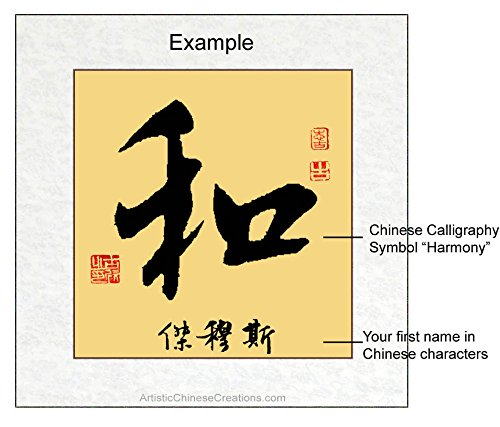 Amazon customized chinese calligraphy harmony symbol amazon customized chinese calligraphy harmony symbol chinese name translation paintings expocarfo Gallery