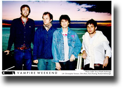 Vampire Weekend Poster Promo Contra Mordern City Sea