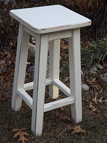 Heirloom white bar stool counter stool wood distressed 25 -28 -30 high