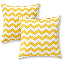 Greendale Home Fashions 17 in. Outdoor Accent Pillow (set of 2), Zigzag
