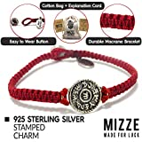 """Women's 7"""" Red Charm Bracelet with Sterling Silver"""