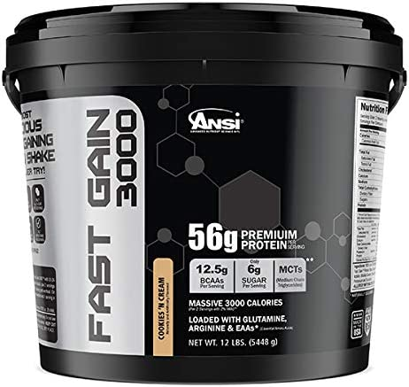 Ansi Fast Gain 3000, Cookies Cream, 12 Pound