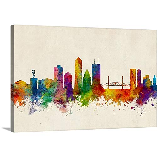 Jacksonville Florida Skyline Canvas Wall Art Print, 30