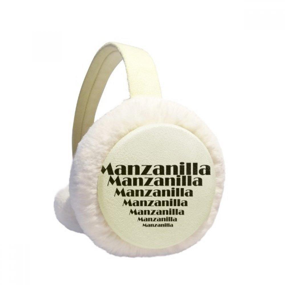 Spanish Manzalilla Sherry Shaped like A Cup Winter Earmuffs Ear Warmers Faux Fur Foldable Plush Outdoor Gift
