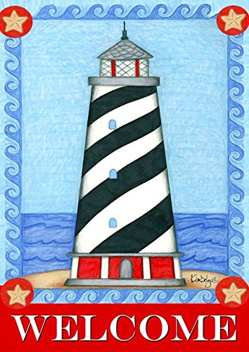 Briarwood Lane Guiding Light Summer Garden Flag Welcome Lighthouse Nautical 12.5