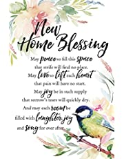 """New Home Blessing Woodland Grace Series 6"""" x 9"""" Wood Plaque with Easel"""
