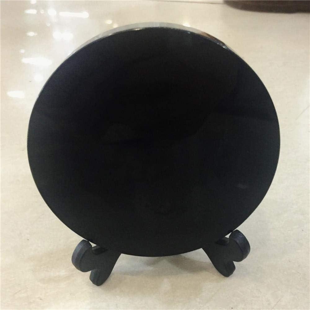 ETHAN Cristal de obsidiana Negra Natural Piedras Preciosas Reiki Meditación Chakra Curación Fengshui Espejo como 150 mm