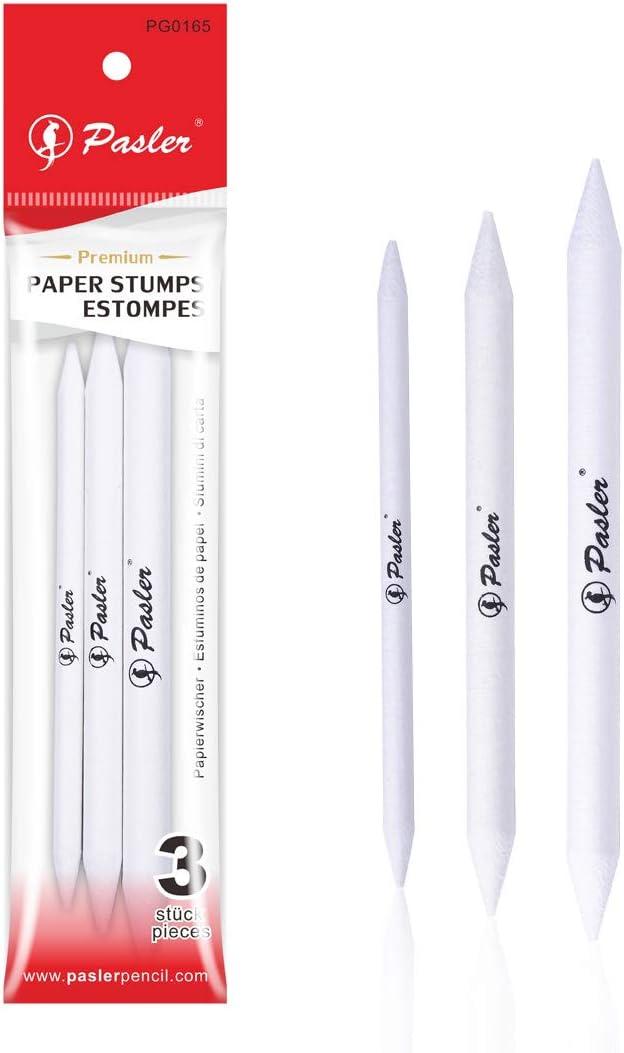Pasler TM Artist Blending Paper Stumps and Tortillion Art Blenders - Pencil, Charcoal, Graphite, Colored Pencils, Pack of 3 - (125mm, 135mm, 150mm)