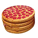 "Pizza Cushion Round Lounge Chair Memory Foam Seat Deco Pillow (Pizza, 14"")"