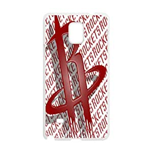 Houston Rockets NBA White Phone Case for Samsung Galaxy Note4 Case
