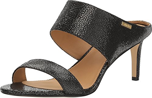 Calvin Klein Womens Cecily Open Toe Casual Slingback Sandals, Black, Size 9.5
