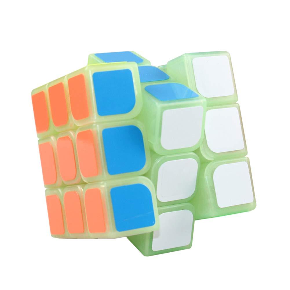 JIAAE Luminous Puzzle Rubik's Cube 3X3 Cube Children Game Dedicated Rubik
