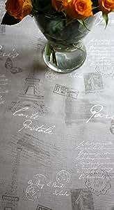 Diseño de París, lujo, Gris, en relieve, limpiar mantel, tela impermeable, 140x 200cm