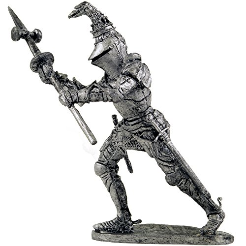 Knight, Richard de Beauchamp. Metal Sculpture. Collection 54mm (Scale 1/32) Miniature Figurine. Tin Toy (Beauchamp Collection)