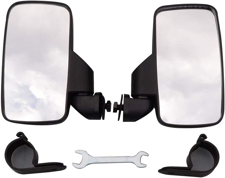 WOOSTAR 1.75 Rear View Side Mirror Racing Pack of 2 for UTV Polaris RZR Can Am Maverick X3 2017 2018 Suzuki Quadracer 450 2006-2009