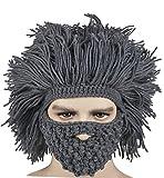 Kafeimali Men's Barbarian Vagabond Beanie Original Foldaway Beard Hats Halloween Caps