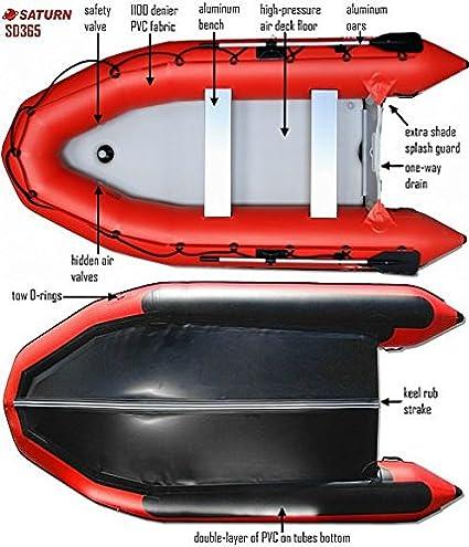 Saturn 12 ft sd365 hinchable deporte Motor barco balsa conjunto oferta, Gris claro: Amazon.es: Deportes y aire libre