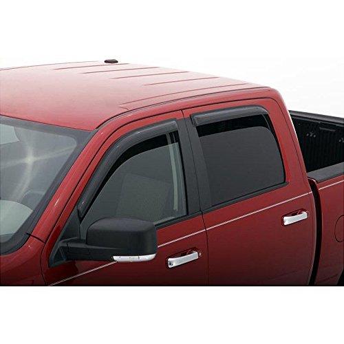 VioGi Fit 00-04 Nissan Frontier Crew Cab Pickup 4pcs Front + Rear Smoke Sun/Rain Guard Vent Shade Window Visors