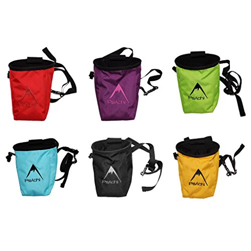 Psychi Bouldering Climbing Starter Pack with Chalk Bag Waist Belt Chalk Ball