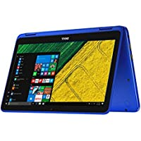 Dell Inspiron 11.6 Touchscreen 2 in 1 Laptop PC Intel Celeron N3060 Dual-Core Processor up to 2.48 GHz 4G Memory 32G Hard Drive Wifi USB 3.0 Bluetooth Windows 10 BLue