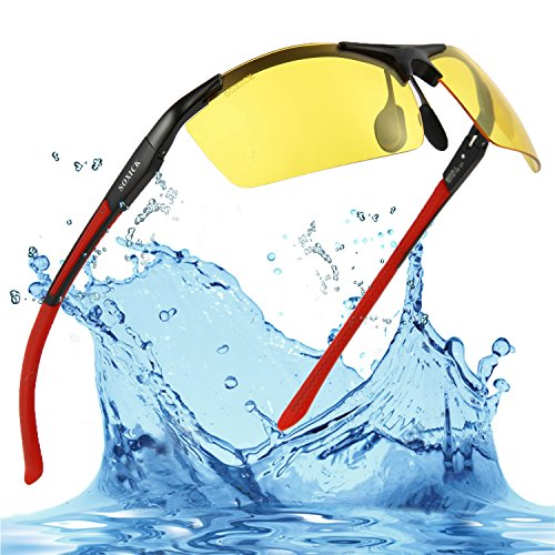 Mens Night Vision Glasses for Driving at Night Soxick Sunglasses for Fishing Shooting Cycling - That Glasses Sun The Tint In