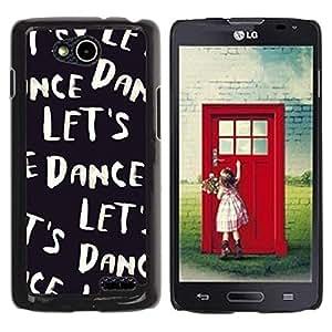 Be Good Phone Accessory // Dura Cáscara cubierta Protectora Caso Carcasa Funda de Protección para LG OPTIMUS L90 / D415 // Let'S Dance Text Black White Vignette