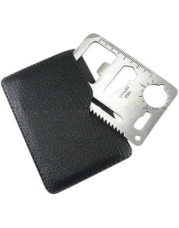 SODIAL (R) Multifuncion al aire libre Mini Supervivencia en Emergencias tarjeta de credito Cuchillo