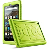 Poetic TurtleSkin Case All Amazon Fire HD 8 Tablet (7th 8th Generation, 2017 2018 Release) - Heavy Duty Silicone case Sound-Amplification Feature Cover - Green