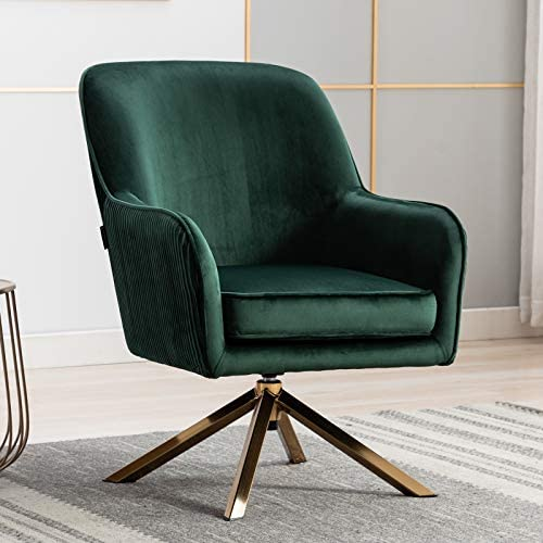Artechworks Modern Velvet Swivel Accent Chair
