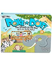 Melissa & Doug Children's Book - Poke-A-Dot: The Wheels on the Bus Wild Safari (Board Book with Buttons to Pop)