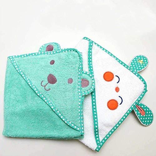 GRATIS Waschlappen 1 STK 70x70 cm 100/% Baumwolle Warm und Kuschelig Badehandtuch et/érea Baby Kapuzenhandtuch B/är Muster in Gr/ün