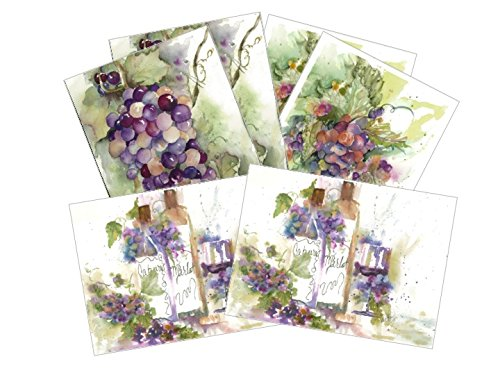 (Tuscan collection Blank Note Card Assortment: 6 Artistic All Occasion Watercolor Cards, with Envelopes)