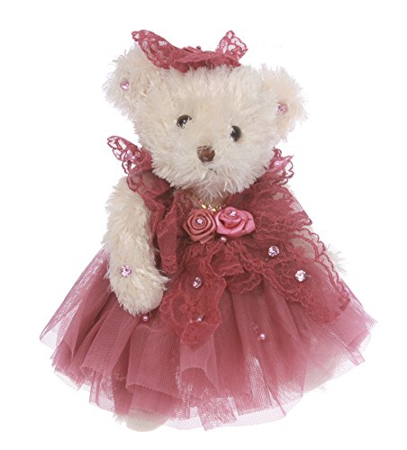 Wedding Dressed Teddy Bear Key Chain / Purse Charm Size: One Size Color: red1 by beltiscool