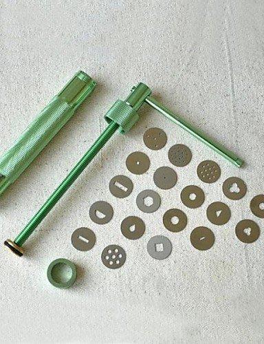 LIN 20discs Sugarcraft Werkzeug Zuckerpaste Extruder für Ton Fimo Handpistole Kuchen Skulptur Dekoration