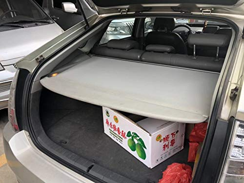 Kaungka Cargo Cover Compatible for 2010-2015 Toyota Prius Base Retractable Trunk Shielding Shade Gray(Does Not Fit Prius V or C Models) ()