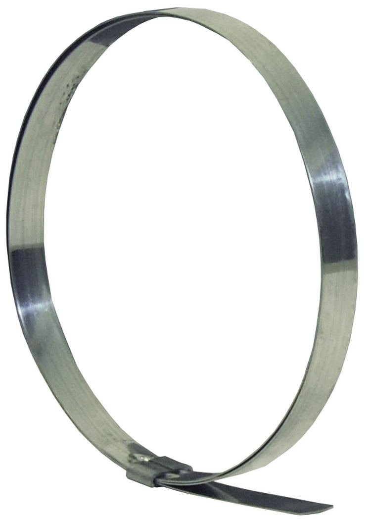 Dixon JS212 Stainless Steel 201 Smooth ID Clamp, 3/4'' Band Width, 3-1/2'' Hose ID (Pack of 50)