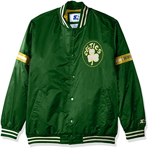 STARTER NBA Boston Celtics Men's Legecy Retro Satin Jacket, X-Large, Green (Snap Boston Celtics)
