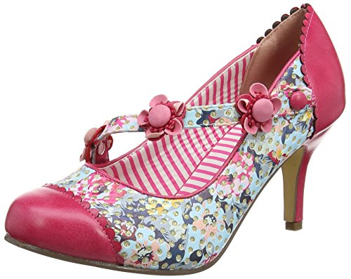 Love Shoes In multi Joe Multicolour Tacones Strap Browns Mujer Lucky a wOaHnqtp