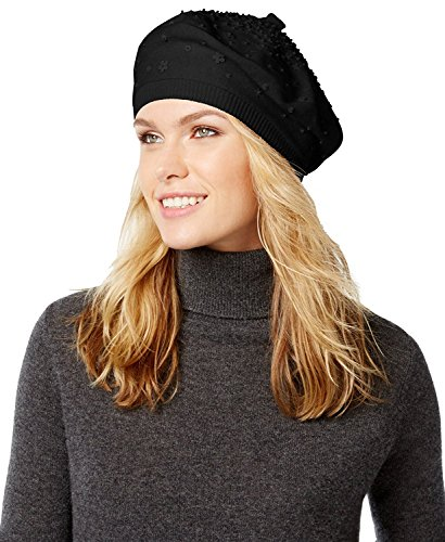 Kate Spade New York Women's Gradient Embellished Beret, Black, One Size