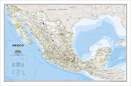 National geographic mexico classic wall map laminated 345 x national geographic mexico classic wall map laminated 345 x 225 inches national geographic reference map national geographic maps reference gumiabroncs Image collections