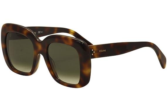 af7427ecee2e Amazon.com  Celine 41433 S O5L Havana 41433 S Square Sunglasses Lens ...